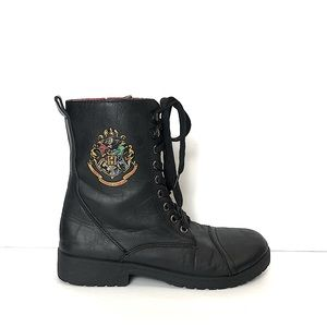 Harry Potter Hogwarts Combat Boots Size 8
